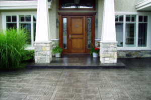 Stamped concrete driveway sealing