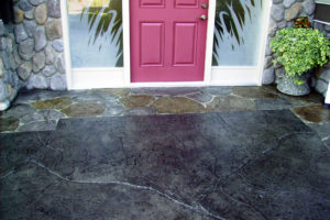 Sealing of stamped and carved concrete